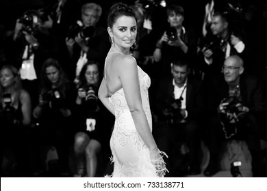 Venice, ITALY - September 6 : Penelope Cruz attends the red carpet of the movie 'Loving Pablo' during the 74th Venice Film Festival in Venice, Italy on September 6, 2017.
