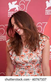 """VENICE, ITALY - SEPTEMBER 8: actress Rebecca Hall at photocall for the movie """"The Town"""" by Ben Affleck at 67th Venice Film Festival September 8, 2010 in Venice, Italy."""