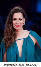"""VENICE, ITALY - SEPTEMBER 8: actress Rebecca Hall on red carpet for movie premiere of """"The Town"""" by Ben Affleck at 67th Venice Film Festival September 8, 2010 in Venice, Italy."""