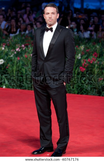 """VENICE, ITALY - SEPTEMBER 8: director and actor Ben Affleck  on red carpet for movie premiere of """"The Town"""" at 67th Venice Film Festival September 8, 2010 in Venice, Italy."""