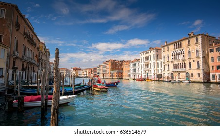 VENICE, ITALY: View of the Grand Canal