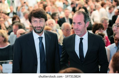 VENICE - JUNE 07: Awards of the 14th International Architecture Exhibition Minister of Culture Dario Franceschini and President of Veneto region Luca Zaia in June 07, 2014 in Venice, Italy.