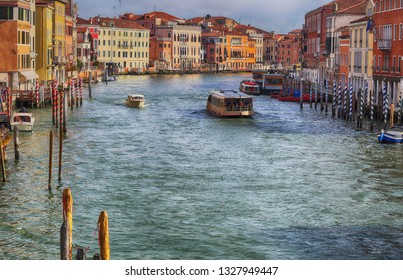 Venice lagoon at sunset The Grand Canal