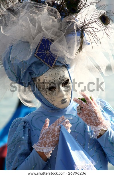 Venice - mask in blue