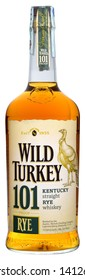 VENICE - MAY 2019. Bottle of American Rye Whiskey Wild Turkey 101 Proof 1 liter, 50,5%Vol.