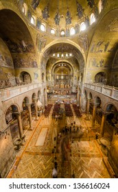 VENICE MAY 29:  a view of the San Marco cathedral interiors