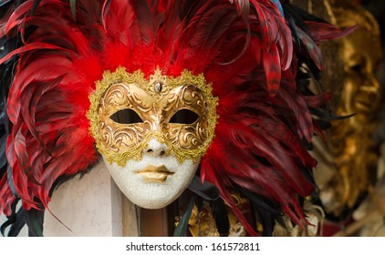 VENICE - MAY 30: Venice carnival mask on may 30, 2013 in Venice. The Carnival of Venice is held annually in the city, starting around two weeks before Ash Wednesday and ends on Shrove Tuesday.
