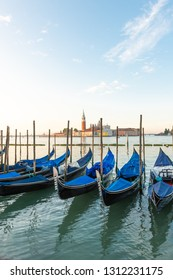 Venice Panorama. Panoramic cityscape image of Venice, Italy during sunrise