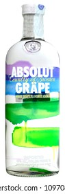 VENICE REPUBLIC - MAY 2018. Bottle of vodka Absolut Grape 1 liter, 40%Vol.