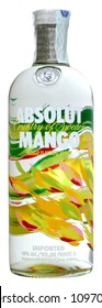 VENICE REPUBLIC - MAY 2018. Bottle of vodka Absolut Mango 1 liter, 40%Vol.