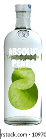 VENICE REPUBLIC - MAY 2018. Bottle of vodka Absolut Pears 1 liter, 40%Vol.
