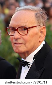 VENICE - SEPTEMBER 02: Ennio Morricone attends the 'Baaria' premiere during the 66th Venice Film Festival on September 2, 2009 in Venice, Italy