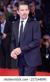 VENICE - SEPTEMBER 5: Ethan Hawke at 'Good Kill' premiere during the 71st Venice Film Festival on September 5, 2014 in Venice.