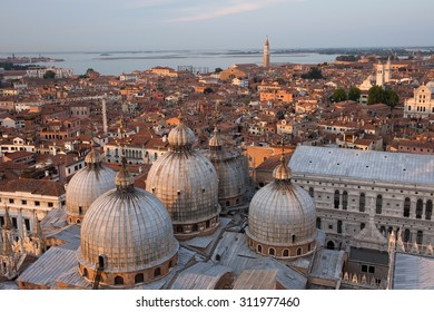 Venice from the top. Venice from above. Panoramic view.