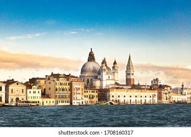 Venice, Ve/Italt - 12.27.19: View of the cityscape of Venice