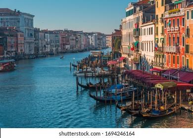 VENICE, VENETO / ITALY - DECEMBER 26 2019: Venice view from the top