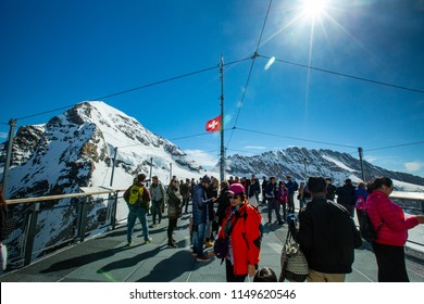 VENICE,ITALY - June 9, 2018 :Jungfrau top of europe in interlaken ,Switzerland