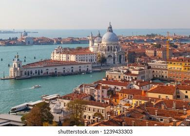 VENICE/ITALY-OCT 15: Water City scenery on Oct 15 2018 in Venice, Italy.