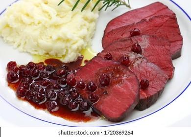 venison dish, sous vide cooking, low temperature cooking