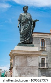 Venosa, Italy. Statue of Horace, famous Roman lyric poet in his hometown