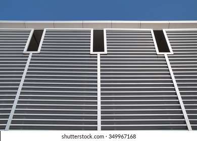 Vent window pattern with blue sky.