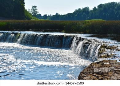 Venta Rapid waterfall - Ventas Rumba, the widest waterfall in Europe, Kuldiga, Latvia