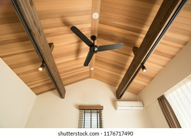 Ventilating fan on the ceiling