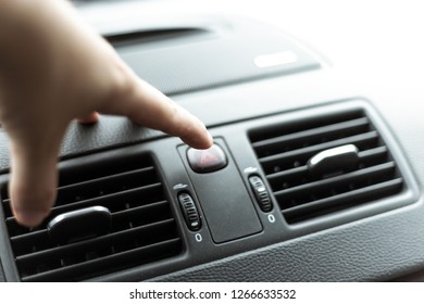 Ventilation of the air conditioning in the car set