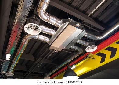 ventilation and cooling ventilation system on the ceiling