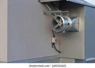 Ventilation duct fan air inlet hvac