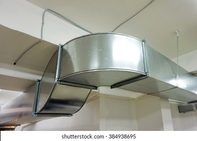 Ventilation ducts made of galvanized sheet