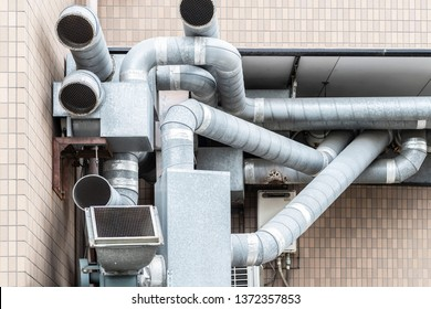 Ventilation ducts outside the building