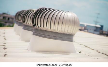 Ventilation heater on roof
