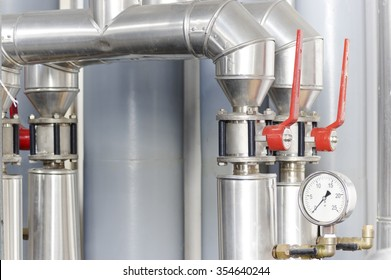 Ventilation and Heating System Valves with baromter