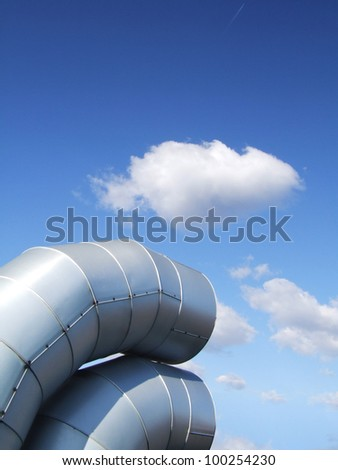 Ventilation pipes.