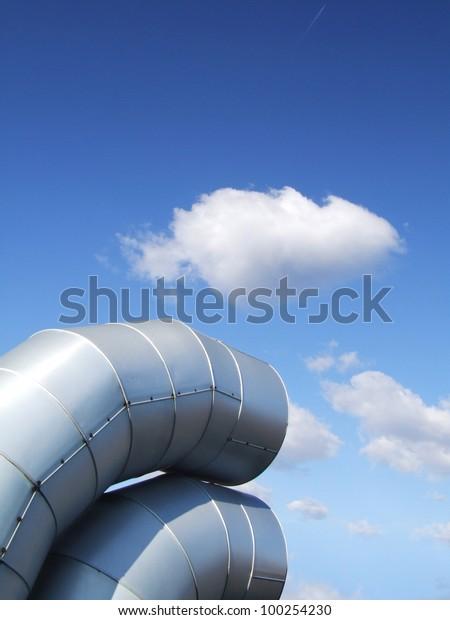 Ventilation pipes.