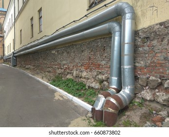 Ventilation pipes for the building