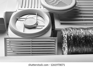 ventilation system components on white background side view
