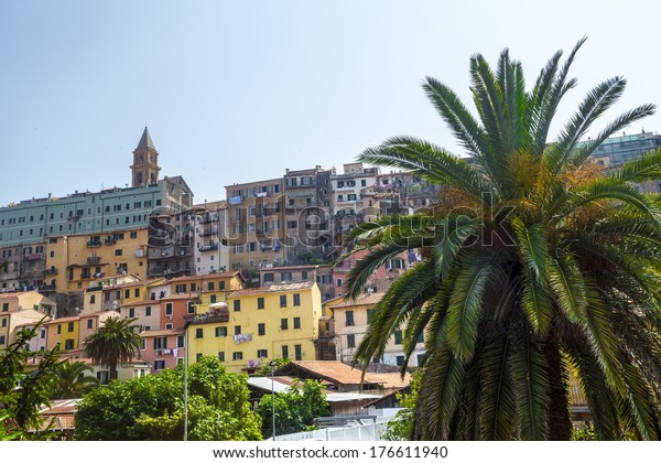 Ventimiglia (Imperia, Liguria, Italy), panoramic view of the old town