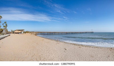 ventura beach house with pier and scenic beach and blue sky