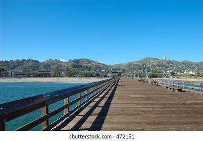 Ventura, California from the fishing pier