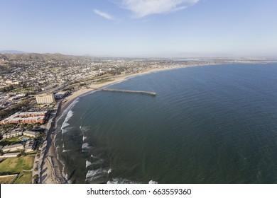 Ventura county coast aerial in Southern California.