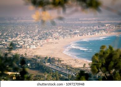Ventura and Oxnard coastlines, from Serra Cross Park, Ventura, September 6, 2014
