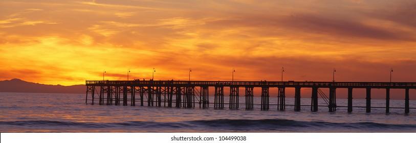 Ventura Pier and Pacific at sunset, Ventura, California