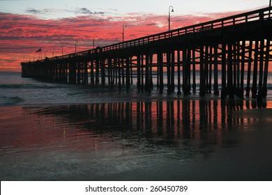 Ventura Pier at sunset, Ventura, California, USA, 12.16.2013