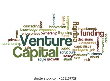 Venture capital equity funding investor concept background