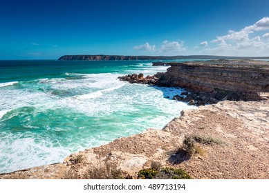 Venus Bay  on the Eyre Peninsula in South Australia/ Australia , provides amazing views of towering cliffs and the booming surf rolling in from the Great Australian Bight
