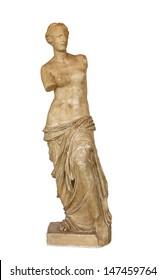 Venus de Milo statue, isolated