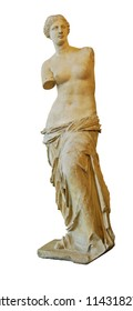 Venus of Milo or Aphrodite statue isolated on white.