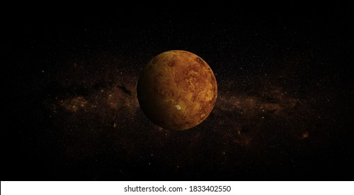 Venus on space background. Elements of this image furnished by NASA.